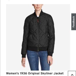 Eddie Bauer grey skyliner bomber jacket